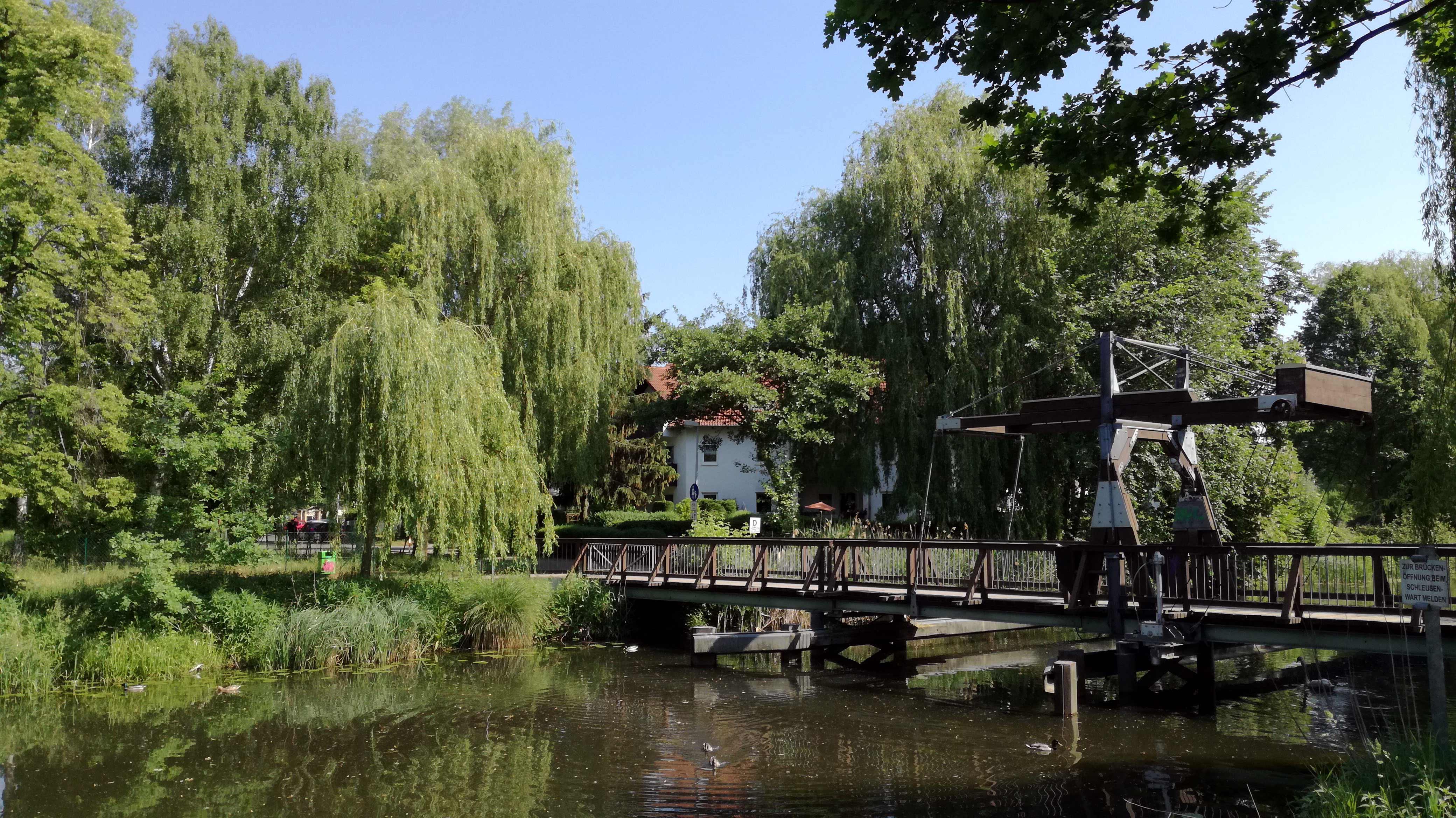 Historisches Idyll: Alte Kipp-Brücke über dem Nottekanal |Johannes Ulrich Gehrke