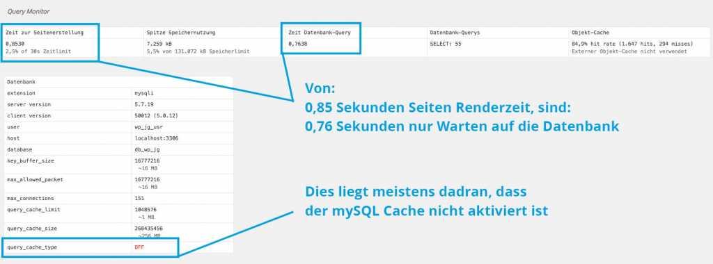 Schritt 01 : Prüfen ob mySQL Cache der Datenbank aktiviert ist |Johannes Ulrich Gehrke
