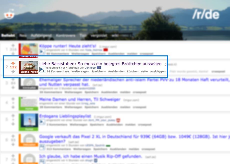 Platz 2 auf Reddit (r/de) |Johannes Ulrich Gehrke