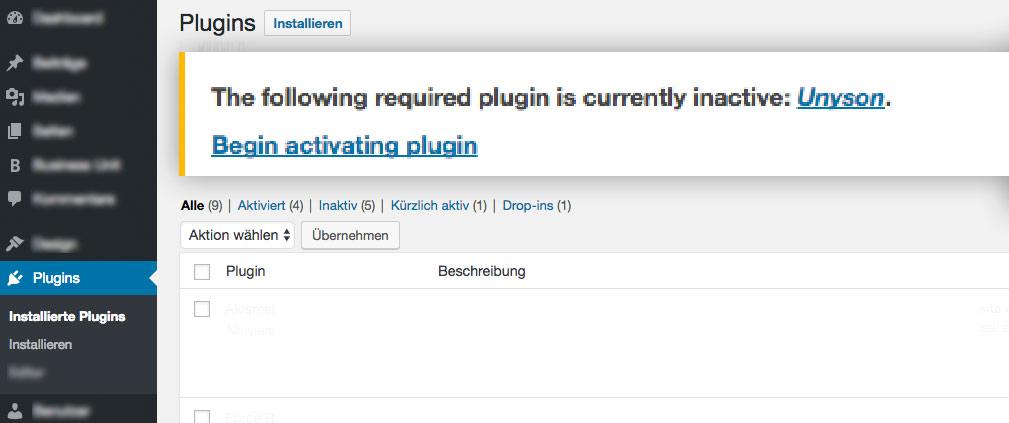 Notwendige WordPress Plugins vom Theme managen lassen |Johannes Ulrich Gehrke