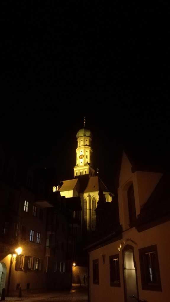 Basilika St. Ulrich und Afra bei Nacht |Johannes Ulrich Gehrke