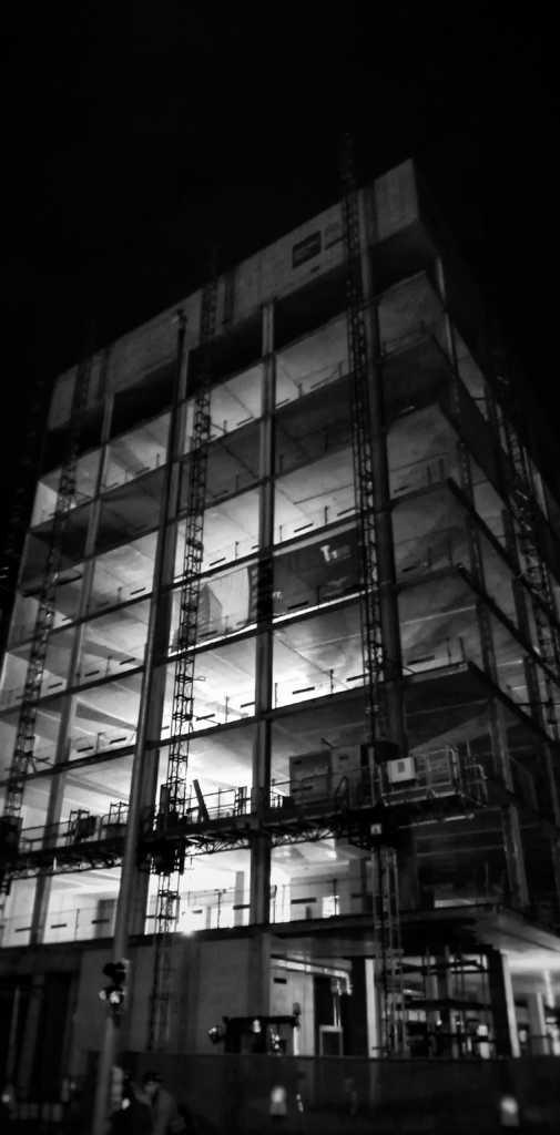 Bauarbeiten bei Nacht |Johannes Ulrich Gehrke