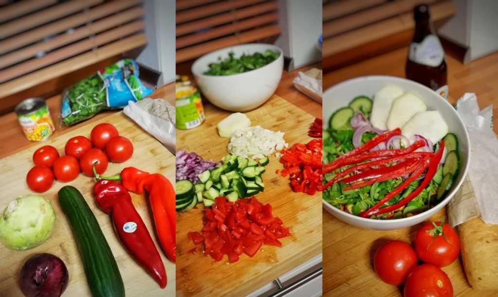 Gute Figur mit Salat |Johannes Ulrich Gehrke