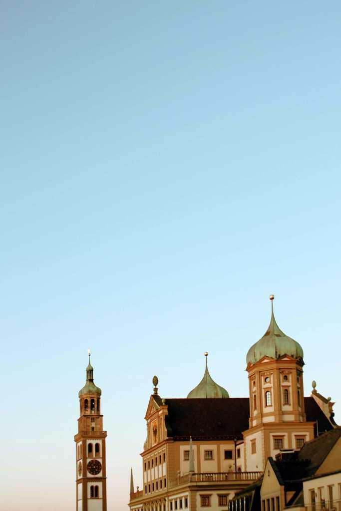 Augsburger Rathaus im Januar Abendlicht |Johannes Ulrich Gehrke