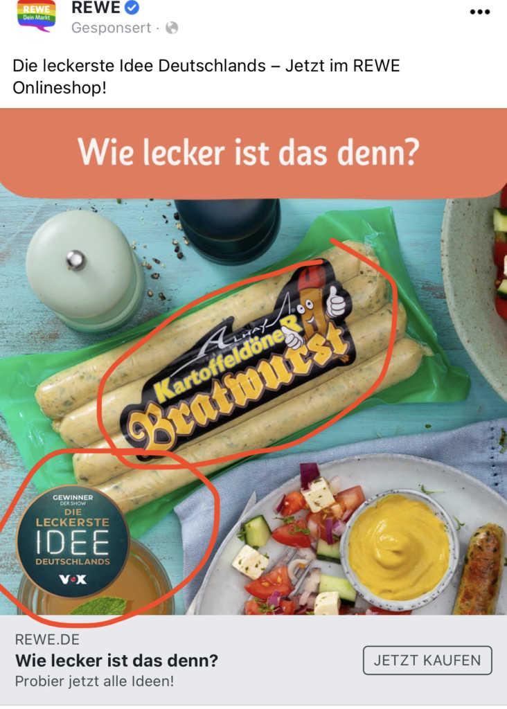Treffen der Kulturen: Kartoffeldöner Bratwurst  Johannes Ulrich Gehrke